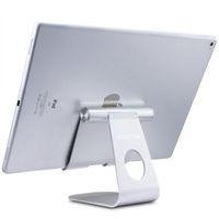 ipad için alüminyum ayaklığı toptan satış-Ayarlanabilir Alüminyum Tablet Standı Masaüstü Cep Telefonu Tutucu tüm Cep Telefonu için ipad Pro 12.9