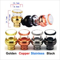 Wholesale E Cig Steel - Ball Styls 510 Drip Tips Stainless Steel with Glass Wide Bore 510 EGO Atomizer Mouthpieces for E Cig EVOD Mechanical Mods Atty Tanks