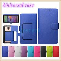 флип сотовый телефон чехол для iphone оптовых-AAA качество универсальный бумажник PU флип кожаный чехол кредитная карта чехол с 9 цветов для 4.0 4.5 5.0 5.5 дюймов мобильный телефон