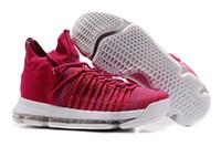 nuevas botas kd al por mayor-KD 9 Elite Racer Pink Sneakers, 2017 nuevos zapatos de baloncesto para hombre KD 9 botas multicolores para caminar, zapatos deportivos para hombres al aire libre