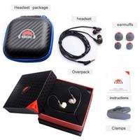 Wholesale Headphone Diy - OKCSC DD3 Hifi Hybrid Dynamic 1BA+1DD DIY Earphone Sport Headphones With Mic Natural Sound Can Change Cable