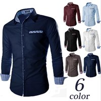 Wholesale Korean New Design Shirt - 2016 New men shirt fashion high quality long Sleeve Shirt Men Korean Slim fit Design stand collar men casual shirt Free Shipping