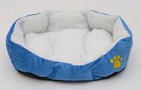 Wholesale Wholesale Dog Soft Houses - Hot Sale! Dog Bed Pet House Soft Warm Pet Bed Cat Nest Lambs small dog nest feline cat nest pet supplies cotton nest