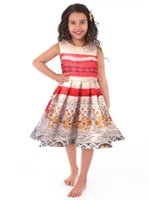 Wholesale Little Girls Party Clothing - Little Adventures Polynesian Princess Dress Up Costume for Girls Moana party Christmas Dresses Vaiana Halloween Cosplay Clothing