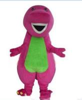 erwachsene dinosaurier kostüm großhandel-2017 hohe qualität barney dinosaurier maskottchen kostüme halloween cartoon erwachsene größe phantasie dress