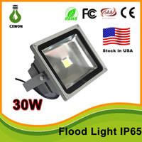 lámpara de lavado al por mayor-Stock en EE. UU. Alta calidad 30W 50W LED Lavado paisaje Lámpara de luz de inundación Exterior impermeable IP65 gris Caso 85-265V Luz de inundación CE, TUV