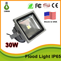Wholesale Wall Wash Lights - Stock in US High Quality 30W 50W LED Wash landscape Flood Light Lamp Outdoor Waterproof IP65 Gray Case 85-265V Flood Light CE,TUV