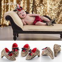 Wholesale girls mary jane shoes - Wholesale- New Fashion Sweet Lovey Newborn Baby Infant Toddler Girls Princess Soft Soled Anti-Slip Shoes Crib Babe Mary Jane Bow High Heels
