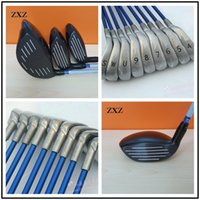 Wholesale Golf Irons Hybrids - Wholesale- golf iron+fairways+irons hybrids+golf training irons Men wome Golf complete sets fairway drivers shaft 4-9SWU golf clubs iron se