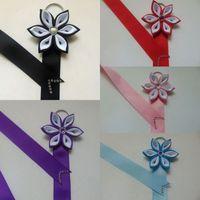 regalos del arco iris para los niños al por mayor-Sostenedor del arco para las muchachas y los niños del arco iris Arco del pelo / sostenedor del clip Cumpleaños / Pascua / Gift.10pcs \