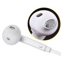 kenar kulaklıklar toptan satış-3,5 mm kulaklık Premium Kaliteli Stereo kulak Samsung S7 S6 S6 Kenar için mikrofon ve uzaktan Ses Kontrollü kulaklık kulaklıklar kulaklıklar
