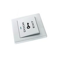 porte de sécurité blanche achat en gros de-Accessoires de système de contrôle d'accès de couleur blanc les moins chers Bouton de sortie de sortie de porte câblé Switch pour la sécurité à la maison