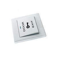ingrosso pulsante di sicurezza-più economico sistema di controllo accessi di colore bianco accessori Pulsante di uscita pulsante di uscita cablato interruttore per la sicurezza domestica