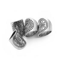Wholesale Tin Signs China - silver plated punk alloy wedding Atlantis Maya Gypsy bohemia ring Carving Mysterious totem ring symbol sign Wide rings men 2017 j191