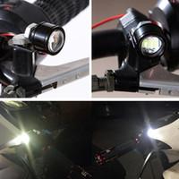 führte strobe-objektiv groihandel-Hohe Qualität Motorrad Led Strobe Flash Warnlicht Bremslicht Scheinwerfer Fischaugenlinse Lampe