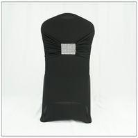 Wholesale Discount Wedding Chairs - big discount! high quality wedding rheinstone mesh buckle chair sash buckle black elastic chair sash band