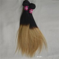Dois tons Ombre Hair Extension 2 Bundle Ombre Brazilian Naturen Hair Weave Unprocessed Human remi Cabelo Weft Straight for Triding