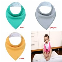 Wholesale Triangle Scarf Boy - Baby Solid color Bandana 13colors Drool Bibs for Boys Girls Unisex Saliva towel Burp Cloths Triangle Scarf Accessories