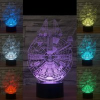 Wholesale 2016 millennium falcon D Night Lamp Optical Night Light LEDs Night Light DC V Factory WholesaleEiffel Towe