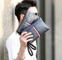 ingrosso coreano in vendita-borsa di marca di vendite della fabbrica borsa di cuoio del raccoglitore degli uomini della borsa sportiva degli uomini casuali di colore di modo coreano della mano