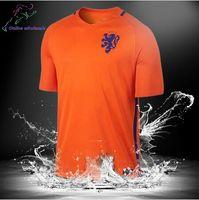 Wholesale Netherlands Away - New Netherlands soccer jersey 16 17 ROBBEN Home Orange Away blue KLAASSEN SNEIJDER V.PERSIE thai quality Netherlands Football shirt 2016
