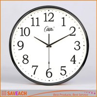 Wholesale Candy Design Brief - New Arrival Modern Design Candy Color Fashion Round Modern Home Bedroom Time Kitchen Wall Clock Quartz with 7 Colors Free Shipping