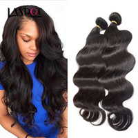 Wholesale Natures Hair Color - Malaysian Body Wave Virgin Hair 100% Human Hair Weave 3 Bundles 100g pcs Cheap Unprocessed Malaysian Remy Human Hair Extensions Nature Color