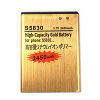 Wholesale Gio Battery - 1PCS S5830 2450mAh Original High quality Gold Battery For SAMSUNG Gio Pro S5830 S5660 S5670 i579 i619 i569 S5830i S5838 S7500