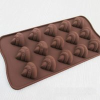 Wholesale Chocolate Bar Cake - Wholesale- 1Pcs 3D poo faeces shit shape Chocolate Candy Jello silicone Mold Mould cake tools Bakeware Pastry bar Soap Mold