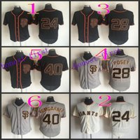 Baseball orange softball - Willie Mays buster posey Baseball Cool Base Jerseys Authentic Stitched Jersey Softball Sportswear