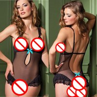 Wholesale Sexy Lingerie Sex Underwear Crotchless - Women Sexy Lingerie Sex Product Erotic Costume Hot Sale Mesh See Through Lace Underwear Sexy Black Crotchless BodyStocking Bodysuit