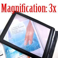 Wholesale Large Magnifier 3x - Wholesale-Free shipping Big A4 Full Page Book Reading Aid Lens Magnifier Sheet Large Magnifying Glass 3X Magnifier