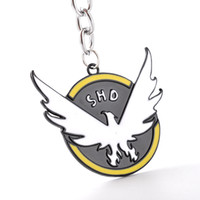 Wholesale Girl Toms - hot game jewelry Tom Clancy's The Division Logo Key Chain Pendant SHD Collector's Agents ID Men COSplay Key rings for fans