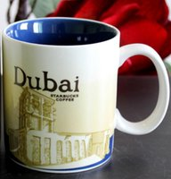 Wholesale City Dubai - 16oz Capacity Ceramic Starbucks City Mug Best Classical Coffee Mug Cup with Original Box Dubai City