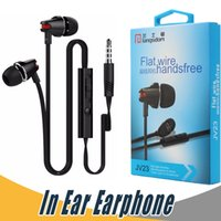 Wholesale Ear Phones Apple Mic - Langsdom JV23 Volume Control Eaphone with Mic For iPhone Samsung Mobile Phone with Retail Package