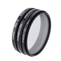 Wholesale 58mm Cpl Uv Lenses - New Andoer 58mm Filter Set UV Filter + CPL Filter + Star Filter Kit with Case for Canon Nikon Sony DSLR Camera Lens