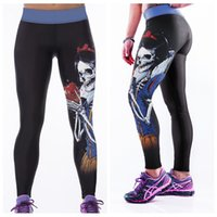Wholesale Sport Queens - Fitness Sports Trousers Jogging Elastic Fashion Bodybuilding Leggings Quick Dry Breathable High Waist Yoga Pants Evil Queen LNASlgs