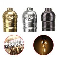 Wholesale Light Bulb Holder Fitting - E27 Aluminum Retro Antique Vintage LED Light Lamp Bulb Holder Socket Fitting Shade Lamp Bases