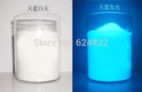 100g Nagel Glitter Nagelkunstdekorationen Weiß Leuchtende Sky Blue Leuchtenden Pulver Phosphor Pigment Glow In Dark Staub Pulver