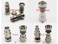 Wholesale Ti Design Wholesale - GR2 TITANIUM NAILS infinity titanium nails, universal 14 18 male and female domeless titanium nails, most convenient ti nail! Best design!