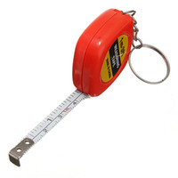 Wholesale Measuring Tape Key Chain - 40inch 1M Measuring Tape Keychain Key Ring Chain Retractable Rule