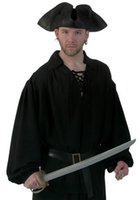 Wholesale Caribbean Performance Costumes - Halloween Patry Costume Performance Wear Pirate Shirt Pirates Of The Caribbean Series Cosplay Costumes Shirt + Belt
