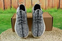Wholesale Cheap Women S Summer Shoes - (With Original Box)Cheap Boost 350 v2 running shoes Pirate Black BB5350 Mens Running Shoes Women Kanye West 350 s Season
