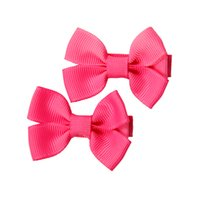 Wholesale Little Clamps - Baby Girls Bowknot Handmade Hair Clips Solid Dot Girls Bow Little Hair Clamps Children Cute Barrettes Trial Order No. 84-85 90-93 97-98