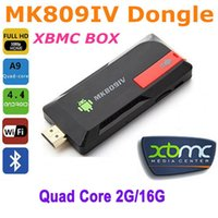 Wholesale Android Tvs - MK809IV Mini PC Android 4.4 TV Stick Dongle Quad Core RK3188T 2G 16G XBMC Bluetooth 4.0 DLNA WiFi android tv dongle airplay