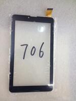 touch-digitalisierer für tablette großhandel-Für 7 Zoll 706 Telefon Tablet Touchscreen touchscreen Display Glas Digitizer Digitizer Panel Ersatz