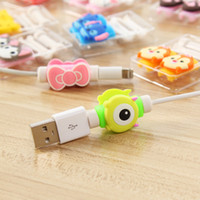 Wholesale Earphones Plastic Cover - USB Cable Protector Wire Saver Mobile Phone Earphone Charging Line Plastic Protective Sleeve 10 Pieces D2 For iPhone cord cover