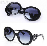 Wholesale Full Free P - 2017 Fashion women's p baroque sunglasses black with box free shipping