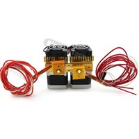 Wholesale 3d Printer Double Extruder - Freeshipping Newest Mk8 12v Dual Head Nozzle Extruder Double Print Head For Makerbot 3D Printer With 1.75mm metal supplies