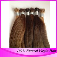 Wholesale Nano Micro Ring Hair - Free Shipping 100strand pack Micro Nano Ring Hair Extensions #4 Dark Brown Brazilian Straight High Quality Nano Bead Hair Extension